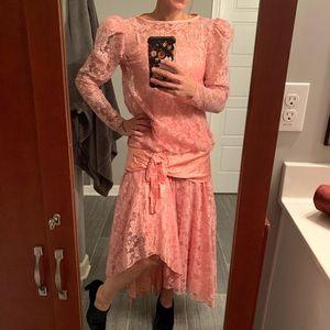 Pink 80's prom brides made dress vintage